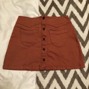 Front Button Mini Skirt - Medium